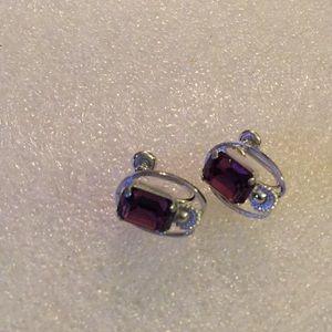 Vintage sterling van dell screw back earring